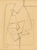 Fine Art - Painting, American:Modern  (1900 1949)  , ARSHILE GORKY (Armenian-born American 1904 - 1948). Still LifeAbstraction, circa 1935 - 1936. Pencil on paper. 11-1/8 x...