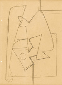 ARSHILE GORKY (Armenian-born American 1904 - 1948) Still Life Abstraction, circa 1935 - 1936 Pencil on paper 11-1/8 x
