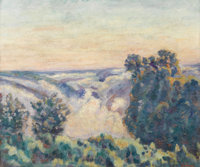 JEAN-BAPTISTE-ARMAND GUILLAUMIN (French 1841 - 1927) Soleil levant dans le brouillard (Sun Rising in the Mist), 1919 O...
