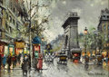 Paintings, ANTOINE BLANCHARD (French 1910 - 1988). Le Madeleine. Oil on canvas. 13 x 18 inches. Signed lower right. PROVENANCE:. ...