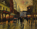 Fine Art - Painting, European:Modern  (1900 1949)  , EDOUARD CORTES (French 1882 - 1969). Street Scene. Oil oncanvas. 16-1/8 x 20 inches. Signed lower left. ...