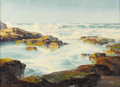 Fine Art - Painting, American:Contemporary   (1950 to present)  , BENNETT BRADBURY (American 1914 - 1991). Laguna Coast. Oilon canvas. 21-1/2 x 29-1/2 inches. ...