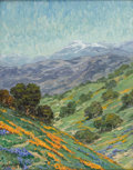 Fine Art - Painting, American:Contemporary   (1950 to present)  , JOHN MODESITT (American b.1955). View Toward San Jacinto,California. Oil on canvas. 18 x 14 inches. Signed lower left,...