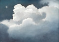 Fine Art - Painting, American:Modern  (1900 1949)  , ERIC SLOANE (American 1905 - 1985). Cloud Symphony. Oil onboard. 24 x 33 inches. Signed lower right. Inscribed on rever...