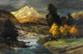 Fine Art - Painting, American:Contemporary   (1950 to present)  , ROBERT WILLIAM WOOD (American 1889 - 1979). Sunrise in theSierras, 1975. Oil on canvas. 24 x 36 inches. Signed lowerri...