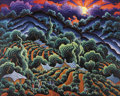 Fine Art - Painting, American:Contemporary   (1950 to present)  , KIM DOUGLAS WIGGINS (American b.1960). Song of the Vineyard.Oil on canvas. 48 x 60 inches. Signed lower left. PROVENA...