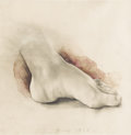 Post-War & Contemporary:Pop, JIM DINE (American b.1935). Foot, 1978. Pencil andwatercolor on paper. 13-3/4 x 13-1/2 inches. Signed and dated lowerc...