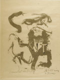 Prints:American, WILLEM DE KOONING (Dutch-born American 1904 - 1997). Figure atGerard Beach, 1970. Lithograph, drawn on transfer paper, ...