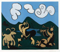 Impressionism & Modernism:post-Impressionism, PABLO PICASSO (Spanish 1881 - 1973). Bacchanale au TaurerRoi, 1959. Linocut in colors, 49/50. 21 x 25-1/5 inches.Signe...