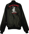 Music Memorabilia:Memorabilia, Crazy Horse Tour Jacket. A black satin jacket from Crazy Horse's Left for Dead tour, their last album of all new material. I... (Total: 1 Item)