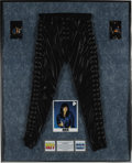 Music Memorabilia:Costumes, Ace Frehley Stage-Worn Pants. A pair of faux-leather pantsstage-worn by Ace Frehley on a solo tour, with laced front andsi... (Total: 1 Item)