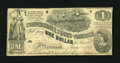 Confederate Notes:1862 Issues, T44 $1 1862. This is a Second Series note. Fine....