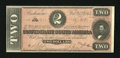 Confederate Notes:1864 Issues, T70 $2 1864. Not a hint of circulation is found on this Deuce that was signed for the Register by (Mrs.) S(arah) Pelot, who ...