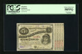"""Obsoletes By State:Louisiana, (Baton Rouge), LA- State of Louisiana $5 1876.. This """"Baby Bond"""" has four coupons attached. PCGS Choice About New 58PPQ...."""