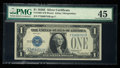 Small Size:Silver Certificates, Courtesy Autographed Fr. 1605 $1 1928E Silver Certificate. PMG Choice Extremely Fine 45.. ...