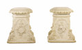 Decorative Arts, Continental:Other , A Pair of White Marble Pedestals. Unknown maker, Continental. Circa1865. Marble unmarked. 34 inches high . . ... (Total: 2 Items)