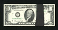 Error Notes:Ink Smears, Fr. 2022-G $10 1974 Federal Reserve Note. Choice CrispUncirculated.. An approximate one inch wide black ink smear thatruns...