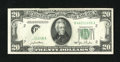 Error Notes:Obstruction Errors, Fr. 2059-B $20 1950 Federal Reserve Note. Very Fine+.. Parts of the district seal, serial number, district number, and Ms. C...