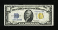 Small Size:World War II Emergency Notes, Fr. 2309 $10 1934A North Africa Silver Certificate. Gem Crisp Uncirculated.. A broadly margined example of this popular Nort...