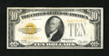 Small Size:Gold Certificates, Fr. 2400 $10 1928 Gold Certificate. Very Fine.. It was illegal to possess Gold Certificates from 1933 to 1964. A couple of p...