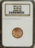 Lincoln Cents: , 1945-D 1C MS67 Red NGC. NGC Census: (502/0). PCGS Population(194/0). Mintage: 266,268,000. Numismedia Wsl. Price: $84. (#2...