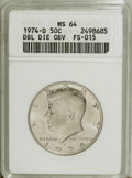 Kennedy Half Dollars: , 1974-D 50C Double Die Obverse MS64 ANACS.FS-015. NGC Census:(90/134). PCGS Population (47/241). Mintage: 79,066,304. Numis...
