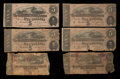 Confederate Notes:1864 Issues, T68 $10 1864 Two Examples. T69 $5 1864 Four Examples.. ... (Total: 6 notes)