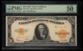 Large Size:Gold Certificates, Fr. 1173* $10 1922 Gold Certificate PMG About Uncirculated 50 EPQ.. ...