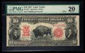 Large Size:Legal Tender Notes, Fr. 122* $10 1901 Mule Legal Tender PMG Very Fine 20.. ...