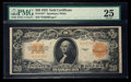 Large Size:Gold Certificates, Fr. 1187* $20 1922 Gold Certificate PMG Very Fine 25.. ...