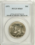 Kennedy Half Dollars: , 1971 50C MS65 PCGS. PCGS Population (125/86). NGC Census: (16/19).Mintage: 155,164,000. Numismedia Wsl. Price: $12. (#6716...