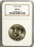 Kennedy Half Dollars: , 1972-D 50C MS65 NGC. NGC Census: (46/50). PCGS Population(139/327). Mintage: 141,890,000. Numismedia Wsl. Price: $15.(#67...