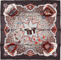 "Luxury Accessories:Accessories, Hermes Grey, Pink, and Red ""La Magie,"" by Mayr Silk Scarf. ..."