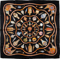 "Luxury Accessories:Accessories, Hermes Black ""Qu'importe le Facon"" Perfume Bottles by Baschet Silk Scarf. ..."