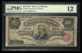 Large Size:Silver Certificates, Fr. 298 $10 1891 Silver Certificate PMG Fine 12.. ...