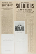 Books:Prints & Leaves, [General George Custer]. John M. Carroll. Collection of TwoFacsimile Broadsides and Three Keepsake Pamphlets Related toCuste...