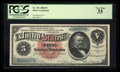 Large Size:Silver Certificates, Fr. 261 $5 1886 Silver Certificate PCGS Very Fine 35.. ...