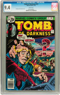 Bronze Age (1970-1979):Horror, Tomb of Darkness #21 (Marvel, 1976) CGC NM 9.4 White pages....