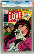 Silver Age (1956-1969):Romance, Our Love Story #1 (Marvel, 1969) CGC NM 9.4 White pages....