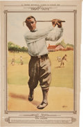 Golf Cards:General, 1928-31 La Presse Player Golfer Photo Premiums Group (6) With Sarazen. ...