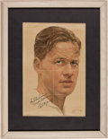 Golf Collectibles:Autographs, Early 1930's Bobby Jones Signed Magazine Image....