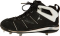 Baseball Collectibles:Uniforms, 2000's Derek Jeter Game Worn & Signed Cleat....