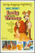"""Movie Posters:Animation, Lady and the Tramp (Buena Vista, R-1972). One Sheet (27"""" X 41""""). Animation.. ..."""