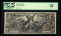 Large Size:Silver Certificates, Fr. 268 $5 1896 Silver Certificate PCGS Very Fine 20.. ...