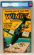 Golden Age (1938-1955):War, Wings Comics #45 (Fiction House, 1944) CGC VF+ 8.5 Cream tooff-white pages....