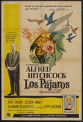 """Movie Posters:Hitchcock, The Birds (Universal, 1963). Argentina One Sheet (29"""" X 43"""").Thriller. Starring Rod Taylor, Jessica Tandy, Suzanne Pleshett..."""