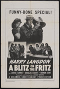 "Movie Posters:Short Subject, A Blitz on the Fritz (Columbia, 1943). One Sheet (27"" X 41"").Comedy Short. Starring Harry Langdon, Louise Currie, Douglas L..."