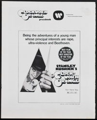 A Clockwork Orange (Warner Brothers, R-1973). Pressbook (Multiple Pages) R-Rated. Science Fiction. Starring Malcolm McDo...