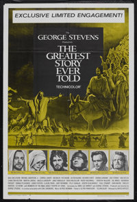 """The Greatest Story Ever Told (United Artists, 1965). One Sheet (27"""" X 41""""). Biblical Drama. Starring Max von S..."""