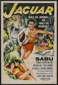 "Movie Posters:Adventure, Jaguar (Republic, 1955). One Sheet (27"" X 41""). Adventure. StarringSabu, Chiquita Johnson, Barton MacLane and Jonathan Hale..."
